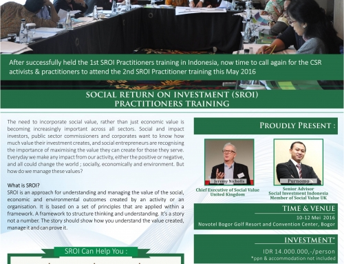 Social Return on Investment (SROI) Practitioners Training