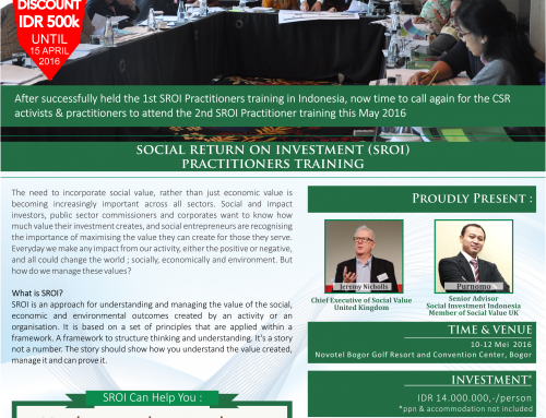 Early Bird Social Return on Investment (SROI) Practitioners Training