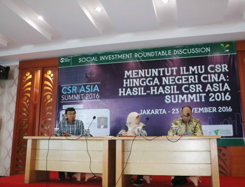 Social Investment Roundtable Discussion; Menuntut Ilmu CSR Hingga Negeri Cina: Hasil-Hasil CSR Asia Summit 2016