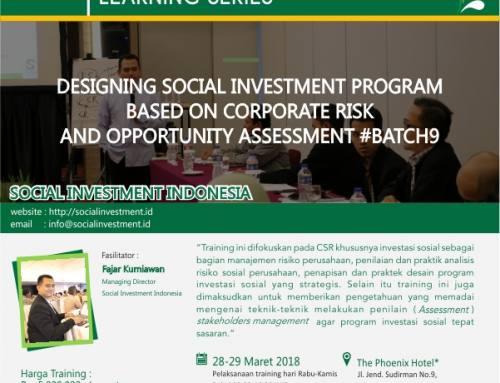 Agenda Terbaru Social Investment Indonesia Tahun 2018