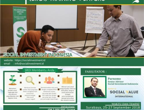 Social Return on Investment (SROI) Training #Batch5