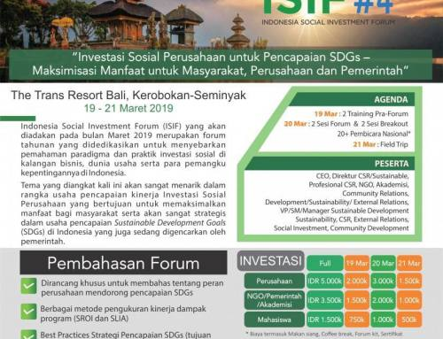 INDONESIA SOCIAL INVESTMENT FORUM (ISIF) #4
