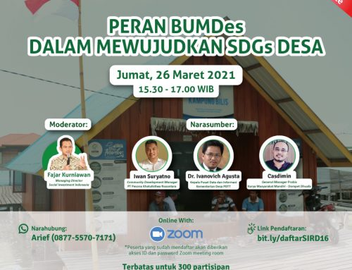 SOCIAL INVESTMENT ROUNDTABLE DISCUSSION (SIRD) #16